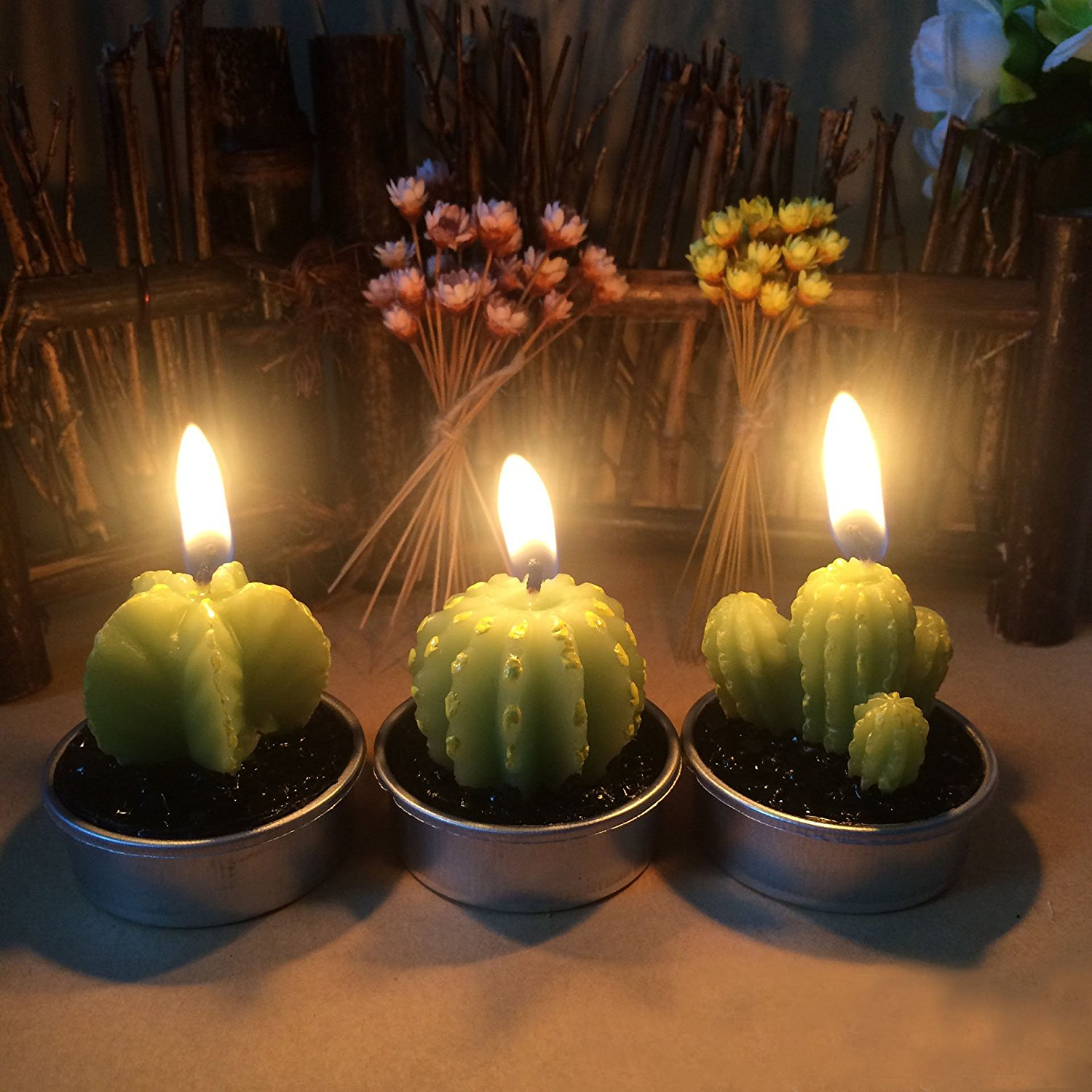 Https Www Isntthisweird Com Gift 40 Cactus Candles For Home Decor